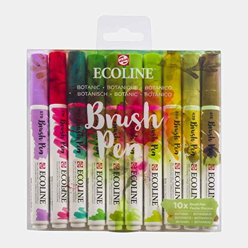 Ecoline Brush Pen Set of 10, Botanic Colors (11509804)