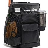 Athletico Baseball Bucket Cover Organizer - Baseball Bucket Bag with Padded Seat (Black)
