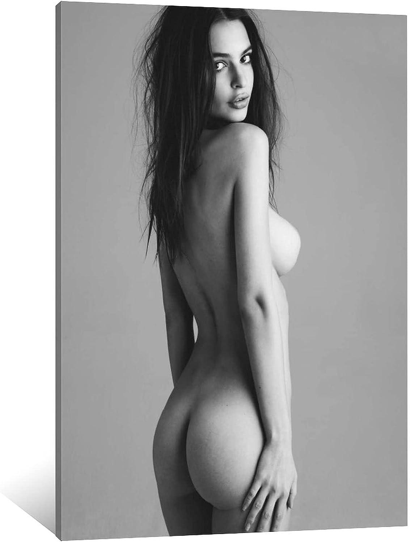 FINDEMO Emily Ratajkowski 完全送料無料 Nude Decorative ☆新作入荷☆新品 Canvas Painting Poster