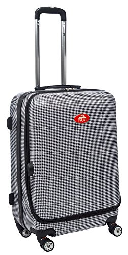 NUKI Front Accessible Hard Shell 28' Luggage, Spinner Trolley, Suitcase, Hounds Tooth