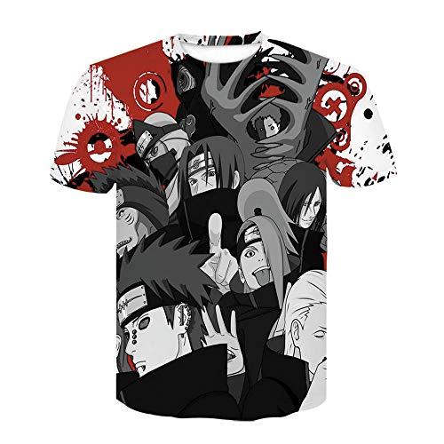 WTWE Unisex 3D Printed Kurzarm Herren T Shirt 3D Anime-Charaktere Gedruckt Mens Kurze Ärmel Kurzarm Tops Männer Print Sport Bluse-T7-3XL