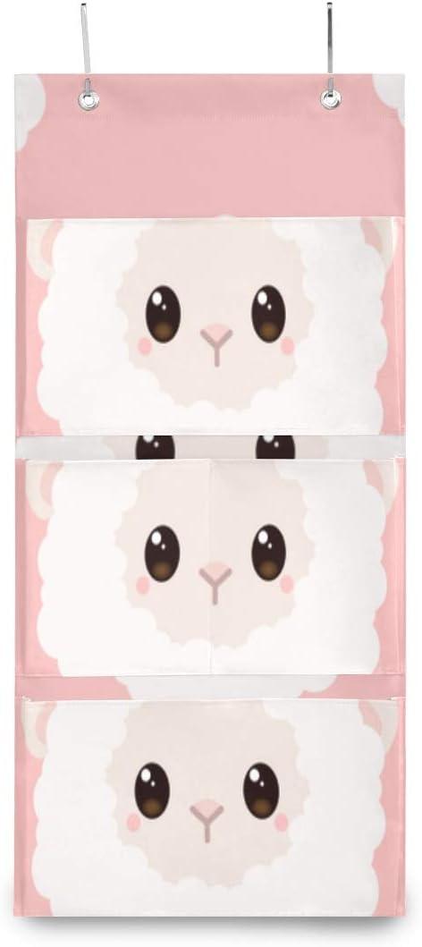 XDCGG Year-end gift Hanging Storage Bag Cute Max 59% OFF Wall Sheep Organiz Little Cartoon
