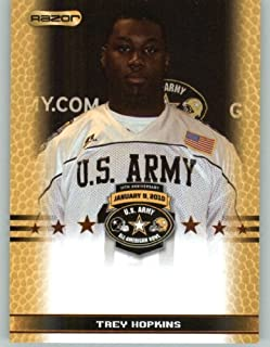 Trey Hopkins OL - North Shore High School Galena Park TX - 2010 Razor US Army All-American Bowl Promo Football Card (Limited to 800)