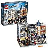 LEGO Creator Expert-Gran Plaza, Set de construcción con Edificios de Juguete, Locales comerciales, Artistas y Adornos callejeros (10255), 4002 Piezas