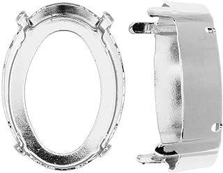 Swarovski Ajuste de Piedra actualizado de Cristal, se Adapta a # 4120 25x18 mm Ovalado, 1 Pieza, Chapado en rodio