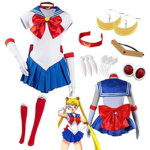 Sailor Moon Tsukino Usagi - Disfraz de Halloween para mujer