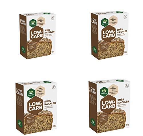 Low Carb Glutenfreie Brot Backmischung - Einfach Backen für Ketofreundliche Diäten - Protein und Ballaststoffreiches Lebensmittel - Kalorienarmes Backpulver ohne Zuckerzusatz 4x150g