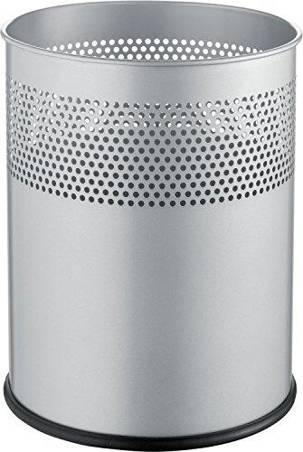 Helit H2515799 The Dot - Papelera (15 L), color plateado