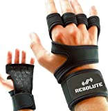 Breathable Work Out Gloves for Men and Women w/ Wrist Wraps Hand Grips for Weights Dumbbells Set, Weightlifting, Crossfit, Pull Ups, C...