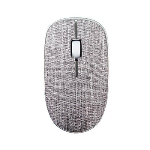 Rapoo 3510 Plus kabellose Maus mit Stoffoberfläche, 2,4 GHz Wireless Verbindung, hochauflösender 1000 DPI Sensor, grau