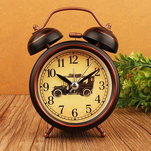 FPRW retro wekker met bel van metaal, wekker met grote ring, wekker voor nostalgische kunst, 3 inch type 2