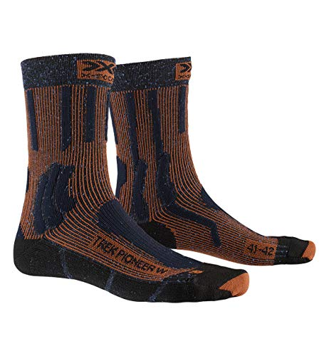 X-SOCKS Trek Pioneer Women Chaussette Femme, Midnight Blue/Crimson Red, FR : M (Taille Fabricant : 37-38)