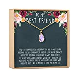 Best Friend Necklace - Heartfelt Card & Jewelry Gift for Birthday, Holiday, More (Birthstone...