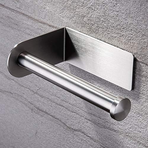 ZUNTO Toilettenpapierhalter Ohne Bohren Klorollenhalter Selbstklebend Klopapierhalter Edelstahl Gebürstet WC Rollenhalter für Badezimmer