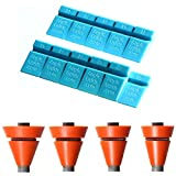 Wedgek Angle Guides Combo, Blue for Sharpening Stones, Orange for Rods