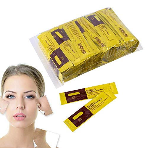 Lot de 100 crèmes de soin anti-cicatrices pour le traitement des tatouages - Réparation - Crème curative à la vitamine