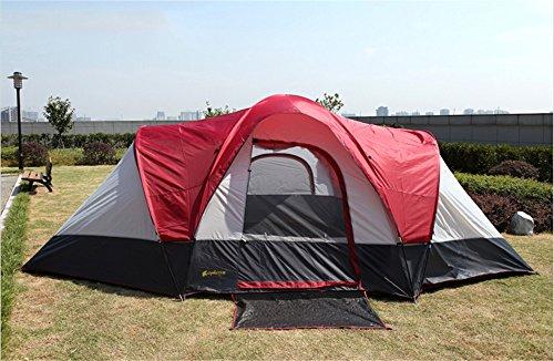 HONEYY Actif de l'anti-Vent Levier Double 8 Les Fortes pluies de Combien de Personnes Deux Chambre et Un Salon Outdoor Tente de Camping 550 * 300 * 198 cm
