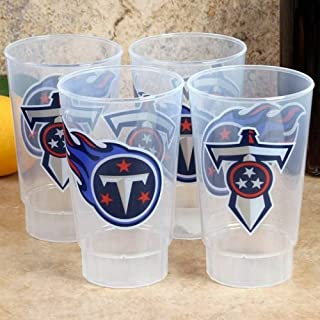 HUNTER COMPANY NFL Tennessee Titans 4-Pack 16oz. Plastic Cups