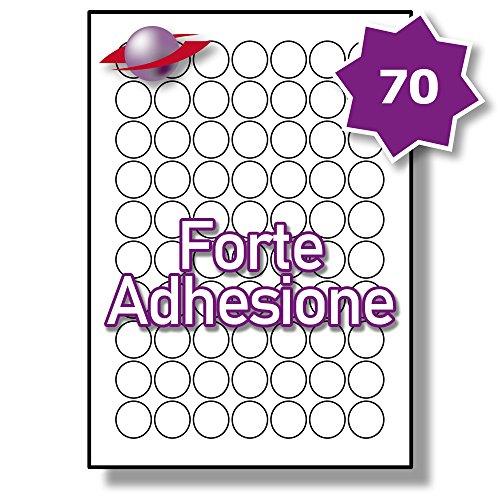 350 Etichette Label Planet/® Etichette Metalliche in Argento A4 su Poliestere per la Stampa Laser 99.1 x 38.1mm 14 Par Foglio LP14//99 SMP. 25 Fogli