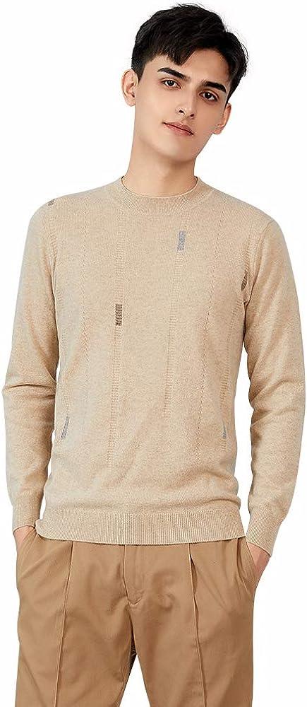 织礼 Zhili Men's 100% Pure Cashmere Crewneck Pullover Sweater
