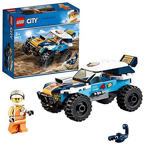 LEGO City Vehicles - Coche de Rally, Set de Construcción de Todoterreno para Recrear Aventuras en el Desierto, Incluye Escopión de Juguete (60218)