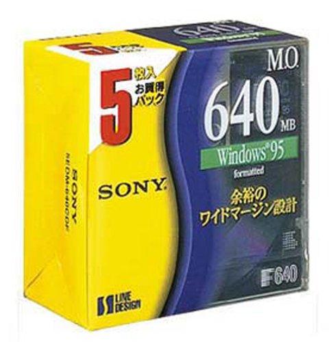 SONY 3.5型MOディスク 5枚 640MB Windowsフォーマット 5EDM-640CDF