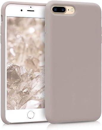 kwmobile Coque Apple iPhone 7 Plus / 8 Plus - Coque pour Apple iPhone 7 Plus / 8 Plus - Housse de téléphone en Silicone Taupe Clair