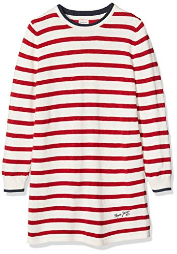 Pepe Jeans Mädchen Suri Kleid, Rot (Flame 265), 11-12 Jahre (Herstellergröße: 12y/152)