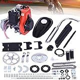 49cc 4 Stroke Engine Motor Kit, Bike Engine Kit 4 Stroke, Gas Petrol Motorized Bike Engine Bicycle for 26' or 28' ATV Bikes (Silver)