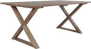 Festnigh Tavolo da Pranzo Rettangoalre in Legno di Teak Recuperato,Tavolo da Giardino Esterno Rettangoalre in Legno Recuperato 180x90x76 cm