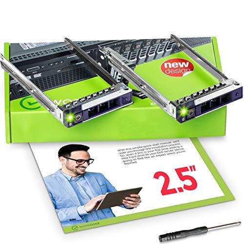 WorkDone 2 pezzi Caddy per disco rigido da 2,5 pollici per server PowerEdge Dell - R440 R640 R740 R740xd R840 R940 R7415 R7425 DXD9H di 14° generazion