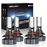 Best LED Headlights - SEALIGHT 9006/HB4 9005/HB3 LED Headlight Bulbs High Low Review