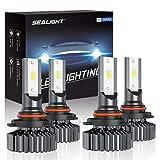 96 chevrolet silverado headlights - SEALIGHT 9006/HB4 9005/HB3 LED Headlight Bulbs High Low Beam, Combo Package CSP Led Chips Hi/Lo lights - 13000lm 6000K White