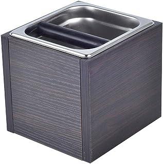 コーヒーノックボックス-正方形のコーヒーかす容器、洗える収納、掃除が簡単、大容量ポータブル、家庭用コーヒー残渣クリーニング用