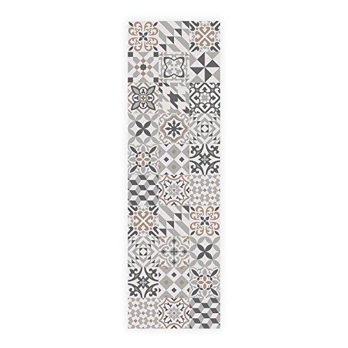 MAMUT Big Design Alfombra DE Cocina. Se Limpia fácilmente con una fregona. Made in Barcelona. Suelo hidráulico en tu Cocina sin Hacer Obras. Eclectic Grey 60x200.