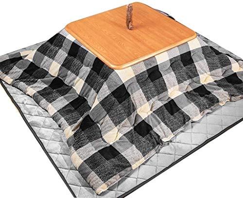 LAZNG Kotatsu Set kotatsu calefacción Mesa Japonesa Tatami Sala de Estar Mesa combinación calefacción Mesa Invierno hogar Esencial cálido Invierno Regalos (Color : 190 * 190cm, tamaño : Gris)