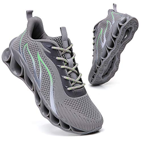 SKDOIUL Men Fashion Running Shoes mesh Breathable Comfort All Grey Sneakers Sport Athletic Walking Shoes Man Runner Jogging Shoes Casual Tennis Trainers Size 13