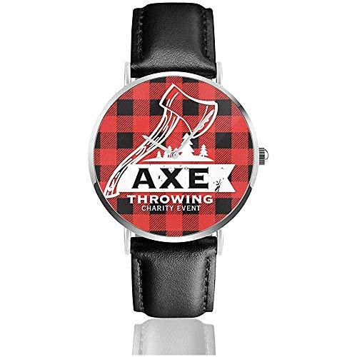 rood en bijl gooien vrouwen mannen lady tiener meisje casual pu lederen band horloge pols horloge