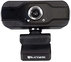 Blackmore Pro Audio BWC-902 HD1080P Webcam with Built-in Microphone, Black