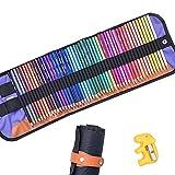 IWILCS Juego de 72 lápices de colores de madera, con sacapuntas, para estudiantes, adultos, principiantes y artistas profesionales