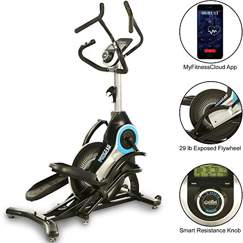 ProGear 9900 HIIT Bluetooth Smart Cloud Fitness Crossover Stepper/Elliptical Trainer with Goal Setting and Free App, Black/Gray