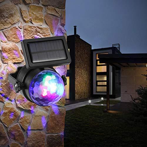 BIOBEY イルミネーションライト ソーラー 屋外 防水 おしゃれ ソーラーライト ガーデンライト 壁掛け 地挿し ledランタン ソーラー ledライトプロジェクター 1年保証 庭園灯 自動点灯 カラフルな回転 芝生ランプ