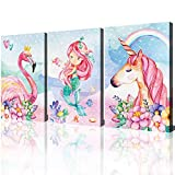 Unicorn Wall Decor Pictures Pink Girls Room...