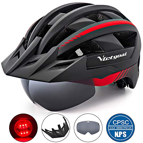 VICTGOAL Bike Helmet for Men Women with Led Light...