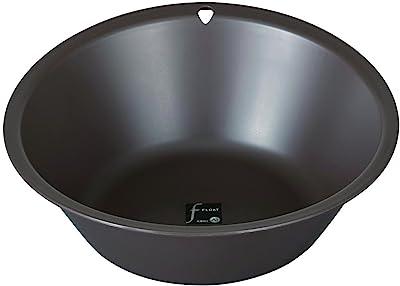 トンボ フロート 洗面器 フック穴付き ブラウン N28
