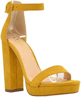 Women's Casual Sandal | Round Open Toe | One Band Ankle Strap | Platform Block Chunky Heel Strappy Sandals
