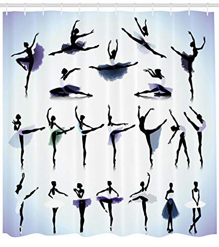 taquxinlaowan Cortina de Ducha artística Bailarinas de Ballet Femeninas Imprimir para baño