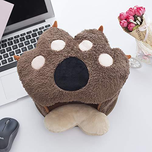 Peluche del mouse, alimentatore USB riscaldata mouse pad inverno ispessimento scaldamani Pad, Light Brown, 25x23x11cm