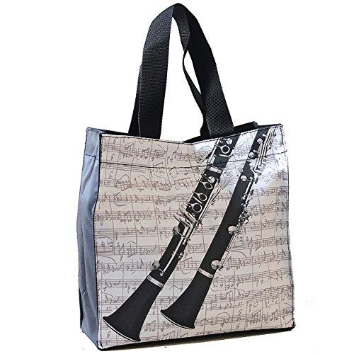 Einkaufstasche, Motiv: Klarinette, Geschenk für Musikfans
