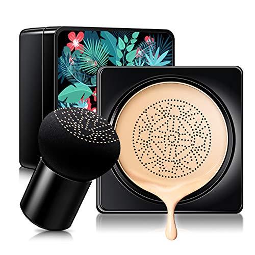 COOSA Air Cushion BB Cream Mushroom Head Foundation, Moisturizing BB Cream Makeup Long Lasting Matte Concealer, Even Skin Tone Makeup Base Primer (Natural)